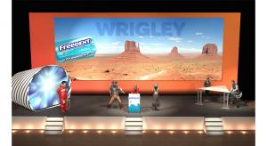 Wrigley 2 - Une scénographie Auréo